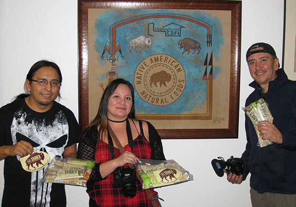 Film crew interviews Native American Natural Foods