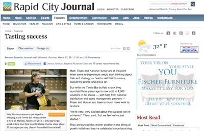 "Rapid City Journal: Tanka team is ""tasting success,"" continuing mission"