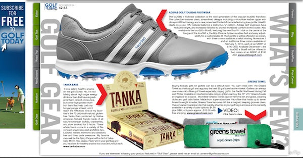 Tanka a top choice for what's new in golf gear