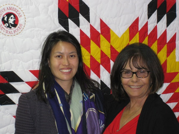Wei-Lin Kwee with CEO, Karlene Hunter at the Tanka office.