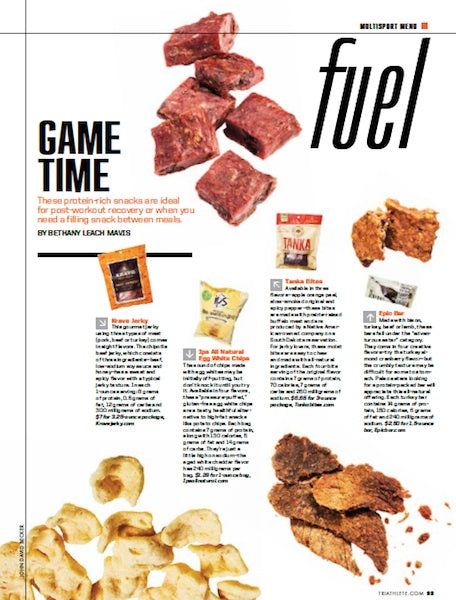 "Tanka Bites featured as a top food for fuel in ""Triathlete"" magazine"