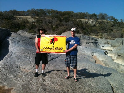 Tanka Bar takes in the sights along the Pedernales River in Johnson City, TX