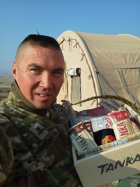 Tanka Gourmet Gift basket a welcome delivery for serviceman