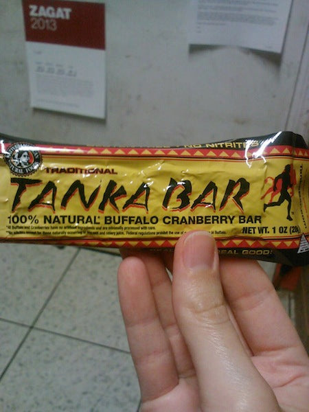 This photo came through to us on Twitter from @GirlMeatsPaleo. She found Tanka Bars at her local Wegmens in Canandaigua, NY.
