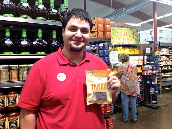 Mason Leal, of Leal's Mexican Foods, Inc., was my demo buddy at the Central Market Dallas Preston Royal. He was demoing tasty tortilla chips, a product of his family's business. He is now a Tanka fan!