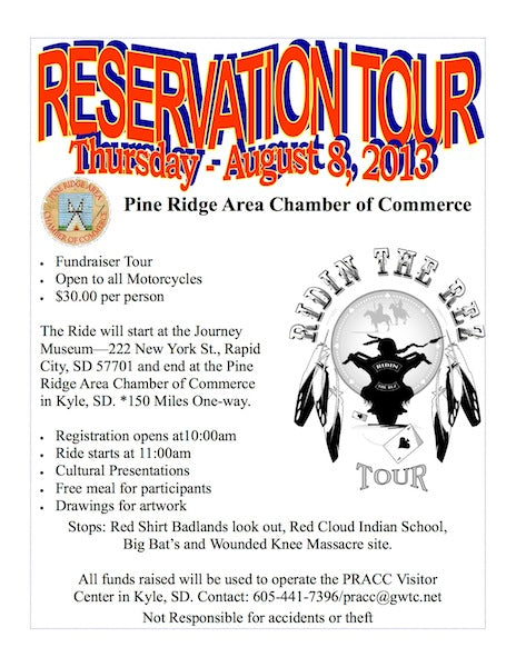 Motorcycle ride to benefit Pine Ridge Area Chamber of Commerce