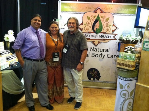 Our friends Joseph, Lauralyn and Lew of Native Touch.