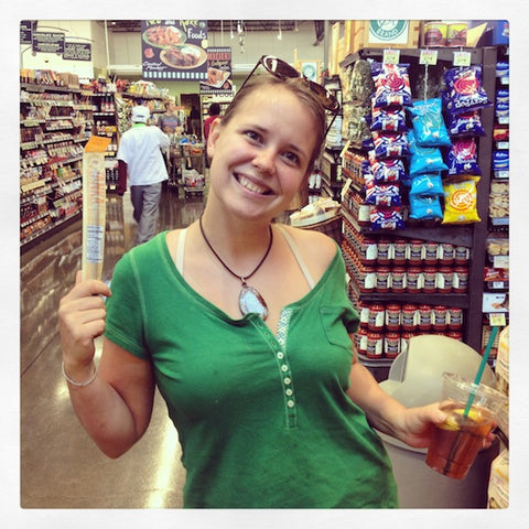 Renee, also shopping at the Central Market in Plano, was very fond of our Tanka Apple Orange Peel Sticks.