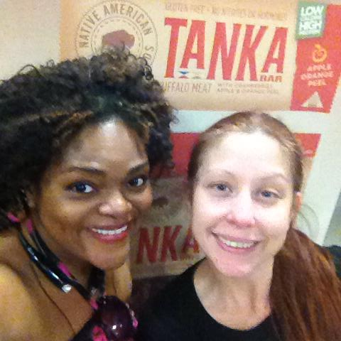 Me with the very hard-working Lindy Lillard, event coordinator at Onnit. We had a great time setting up the booth and working as a team.