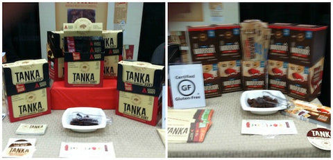 Tanka products displayed at our booth -- including the NEW Tanka jerky available soon.