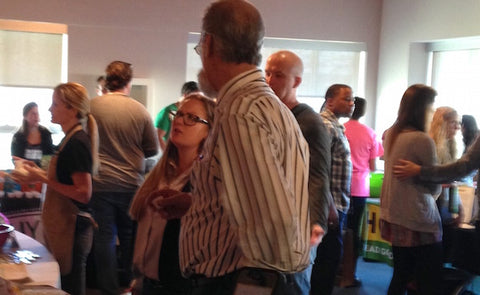 Jennie Poe, Regional Grocery Buyer of the Southwest Region, among the crowd at the event.