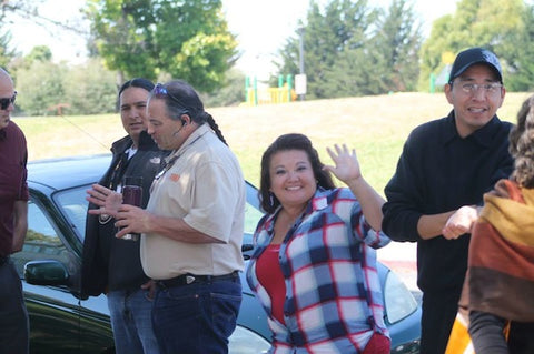 Business manager Dawn Sherman gives a wave to the camera. Photo courtesy of Thunder Valley CDC.
