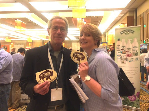 Robert Shapiro and Veronica show their Tanka love at our booth at Foxwoods.