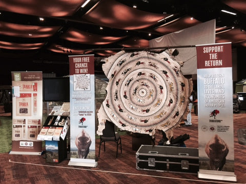 Tanka Fund display for Costco's 2015 Annual Shareholders Meeting. Photos by Mark Tilsen.