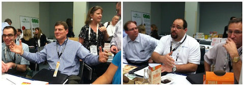 Tabletop discussions with NSS, one of our great natural foods broker partners