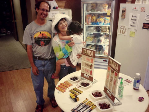 Jason Tinant, a hydrologist at Oglala Lakota College, stopped by with his wife Kazumi and daughter Sako. He was already a fan. :)