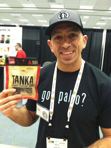 Our paleo friend Steve Liberati of Steve's PaleoGoods stopped by our booth.