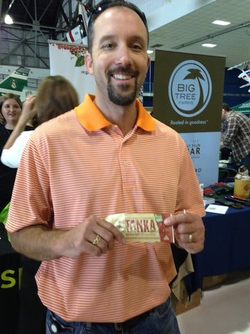 Tucker Wald with Natural Specialty Foods at the Whole Foods Rocky Mountain Tabletop Show in Denver.