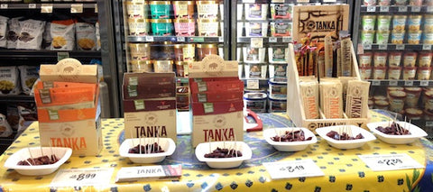 The Tanka demo table at Central Market in Plano.