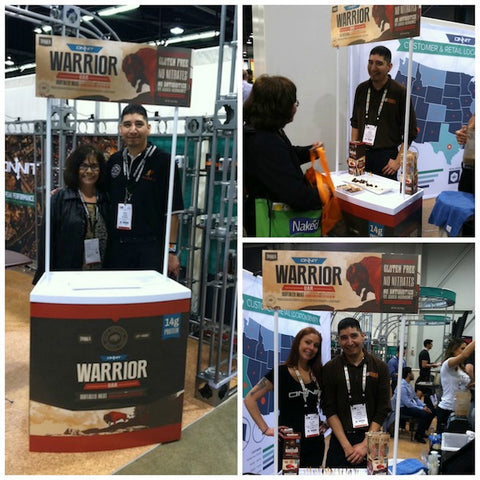 Pictured are our CEO Karlene Hunter with inside sales manager, Eugene Stover. He is chatting with a customer in the top left photo and is photographed with Lindy of Onnit in the bottom right.