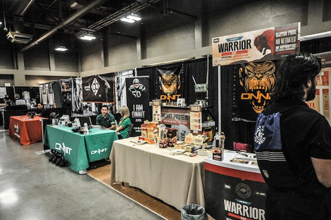 The Tanka/Onnit booth at Paleo f(x).