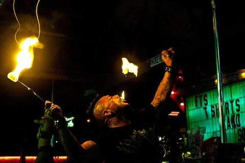 """Fire performer """"Torch"""" at Full Throttle."""