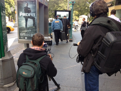 The film crew captures Mark and Eugene entering and leaving the subway.