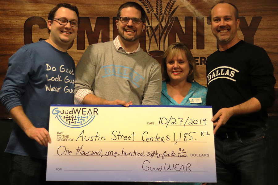 GuudWEAR partners with Austin Street Center to end homelessness