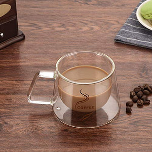 Elegant Double Wall Glass Mug| Coffee Cup| Glass Tea Cup | Trapezoidal