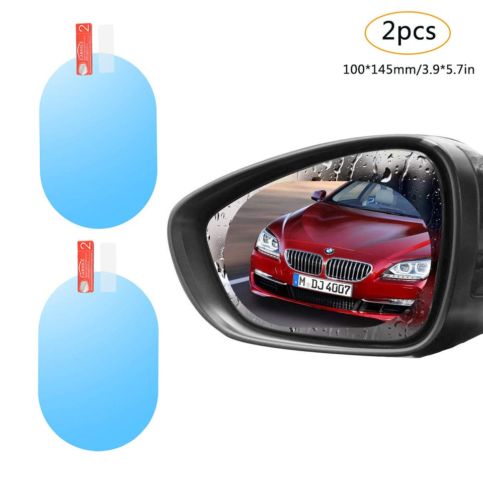 Anti Mist, Anti-Fog & Anti-Glare Side Mirror Film (2pcs) | car tools | Car Mirror | Car Rearview Mirror | Anti Mist | Anti-Glare  | Mirror | Side Mirror