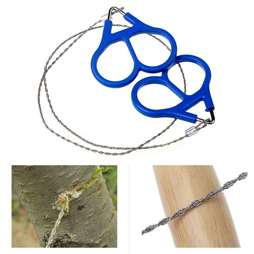 camping_Stainless Steel Hand Pocket Chain Wire Saw