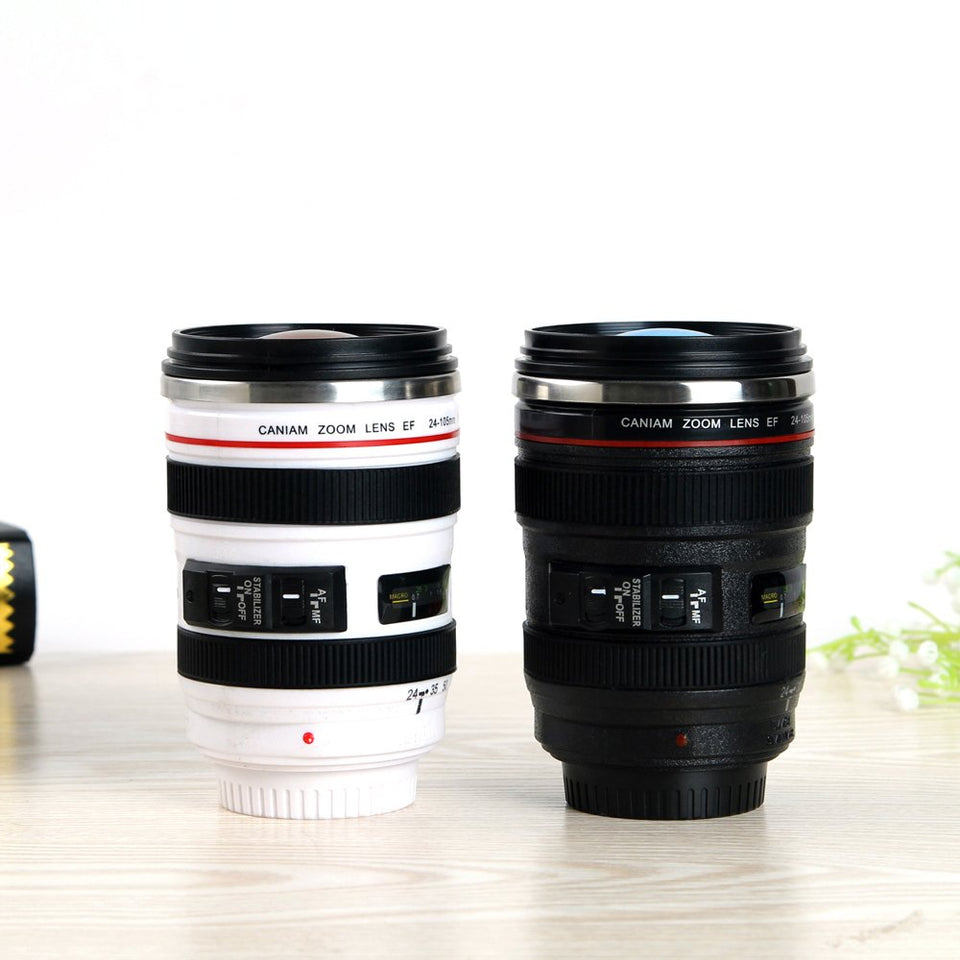 Realistic Camera Lens Mug| Travel Coffee Cup| Camera Mug| Photographer