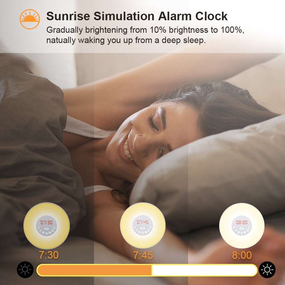 Sunrise Alarm Clock | Morning Clock | Analog clock | Digital clock | Timer | Alarm Clock | Clock