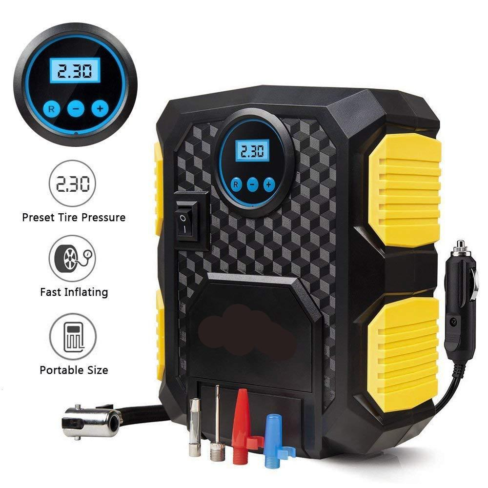 Tire Inflator 12V with Digital LCD | Electric Air Compressor