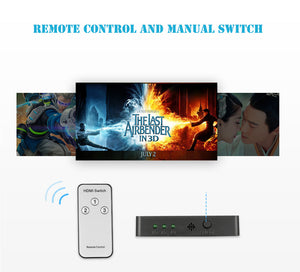 Port Hub Box Auto Switch 1080p HD with Remote