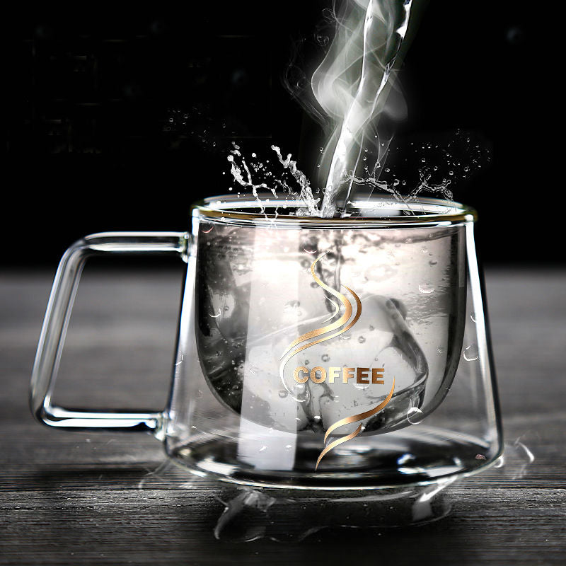 Elegant Double Wall Glass Mug