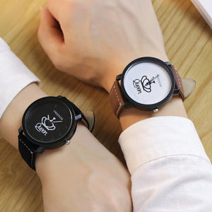 Couples Leather Quartz Watch - women tools - women accessories - Leather Quartz Watch - Couples watch - Quartz Watch  - Watch