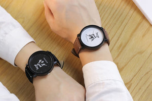 Couples Leather Quartz Watch