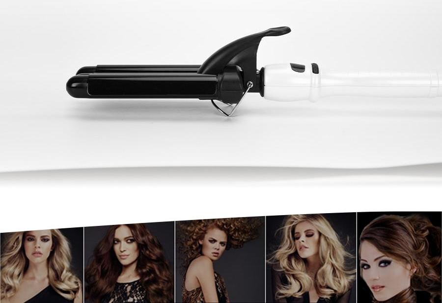 Electric Hair Curling Iron | Triple Barrels | Curly Styling Tools