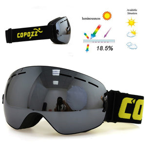 Professional Double Layer UV400 Anti-Fog Ski Goggles