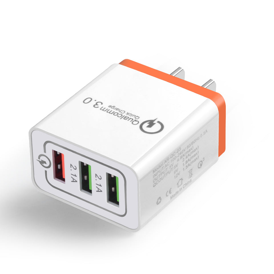 USB 3.0 Travel Fast Charger for EU-US Plug