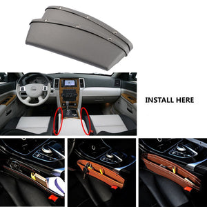 Leather Car Storage Slot