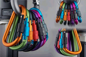 Carabiner Outdoor Kit (6 pcs) | Alloy Aluminum | Survival Gear