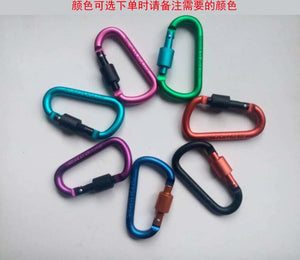 Carabine Outdoor Kit 6 pcs Camping Equipment Alloy Aluminum Survival Gear Camp Mountaineering Hook EDC Mosqueton Carabiner Y13