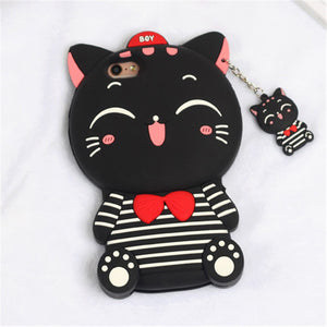 iPhone 3D Cartoon Soft Silicone Case | Soft Silicone Case | 3D Cartoon Case | iPhone Case | Silicone Case