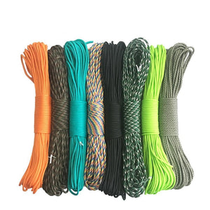 TYPE III PARACORD (550 LB STRENGTH) - MULTIPLE COLORS