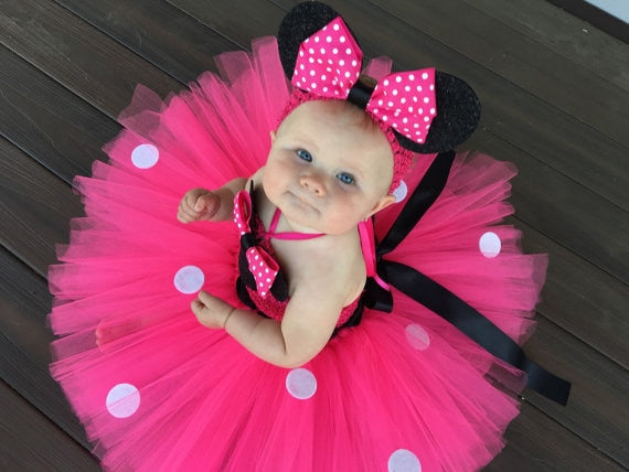 Cute Minnie Girls Dress