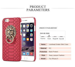 iPhone Lion Ring Leather Back Cover
