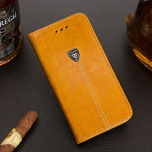 iPhone & Samsung Flip Leather Card Slot Cases