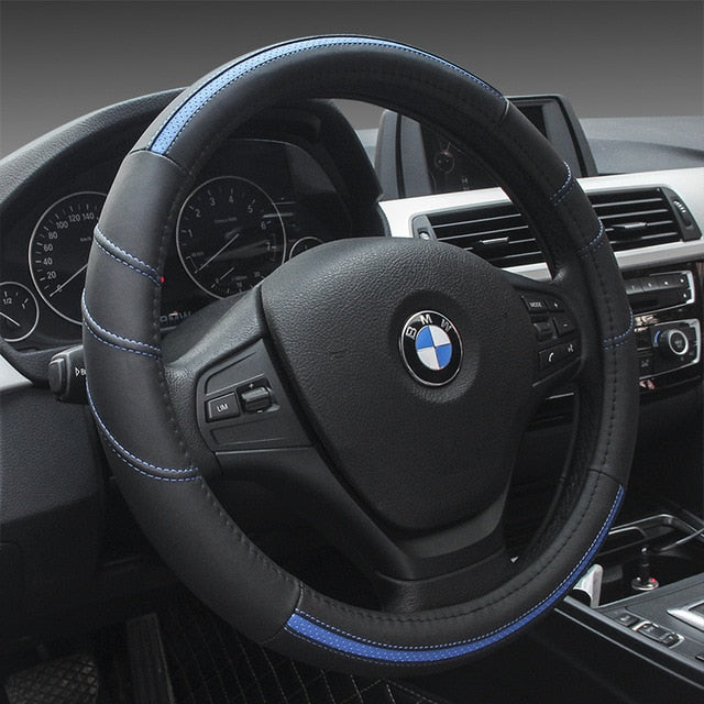 High End Leather Steering Wheel Cover - Car accessories - car tools - Steering Wheel Cover - Cover - Wheel - Wheel Cover
